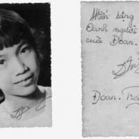 Quỳnh Giao và thủ bút tặng Hoàng Oanh (thời gian Ban Tuổi Xanh)
