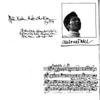 Nhạc sĩ Anh Việt Thu - thủ bút