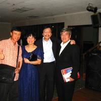 Tuấn Ngọc, Thanh Vân, Ngô Thụy Miên, và ký giả Lê Thụy
