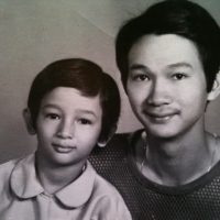 Hai cha con Duy Quang & Phạm Lylan