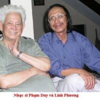 Phạm Duy và nhà thơ Linh Phương