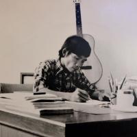 Nhạc sĩ Trầm Tử Thiêng tại Trung Tâm Học Liệu