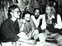 Trịnh Công Sơn cùng các họa sĩ Đinh Cường, Trịnh Cung và nhạc sĩ Văn Cao