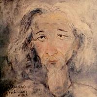Đinh Cường vẽ Văn Cao